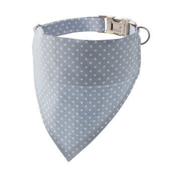 Sky Blue Polka Dot Bandana Dog Collar
