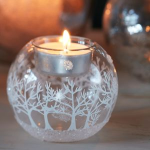 Forest Christmas Tea Light Holder - candles & home fragrance
