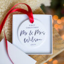 First Christmas Married Personalised Decoration