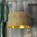 Leopard Print Lampshades With Gold Lining