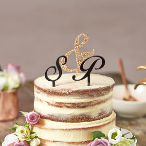 Personalised Initial Wedding Cake Toppers