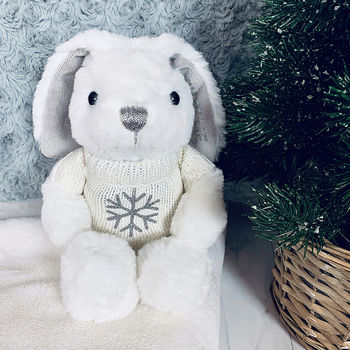 Personalised Little Snowflake Bunny