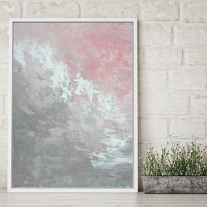 'Clara Foxlore' Framed Giclée Abstract Canvas Print Art - posters & prints