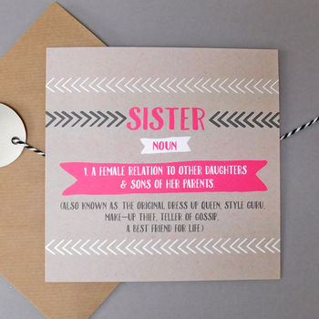 Funny Sister Card