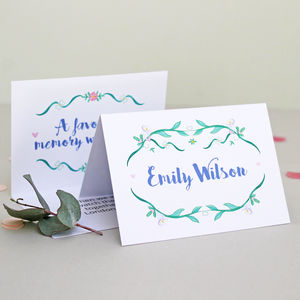 Botanical 'Secret Message' Wedding Place Card - view all sale items