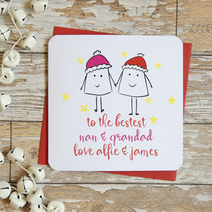 Bestest Grandparents Personalised Christmas Card