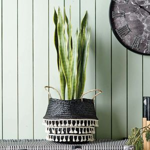 Black And White Dakara Seagrass Basket - view all new