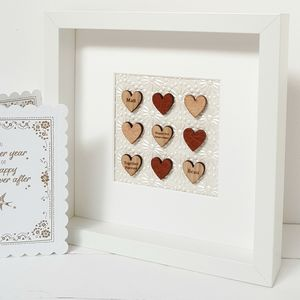 Leather Anniversary Love Hearts Artwork