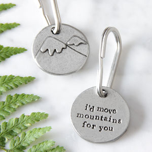 'I'd Move Mountains For You' Keyring - keyrings