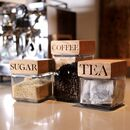 Oak Jars Tea, Coffee And Sugar Set