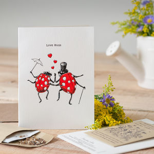 'Love Bugs' Seed Card - love & romance cards