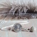 Silver Coin And Crystal Bohemian Necklace