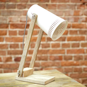 Merle Cream Side Lamp - table lamps