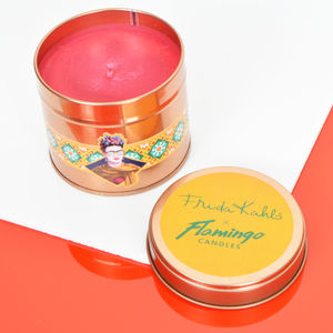 Frida Kahlo X Flamingo Candles Pineapple Tin Candle