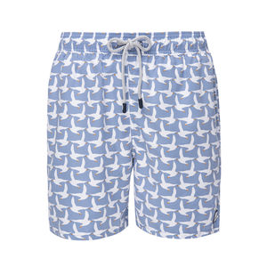 Men's Ice Blue Seagulls Swimming Trunks
