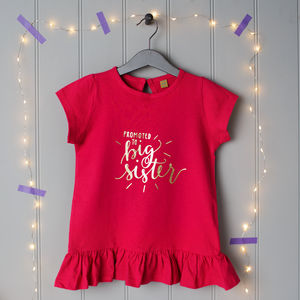 Promoted To Big Sister Or Big Brother T Shirt - clothing