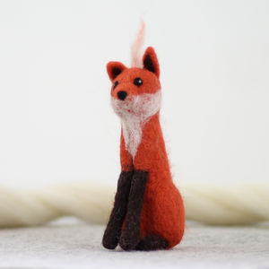 Fox Needle Felting Craft Kit - sewing & knitting