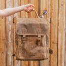 Leather Laptop Tote Backpack