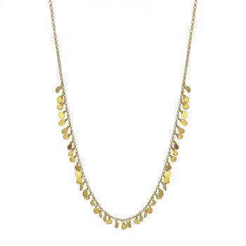 Tiny Sequin Necklace Gold