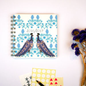 Folk Peacock 2016/2017 Diary - stationery-lover