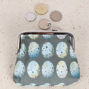 Blue Eggs Coin Clipper Purse