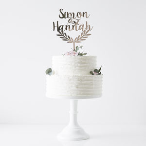 Personalised Grecian Wedding Cake Topper - cake decoration