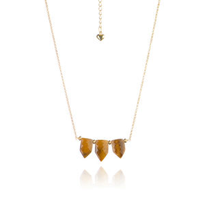 Tiger's Eye 24ct Vermeil Necklace - necklaces & pendants