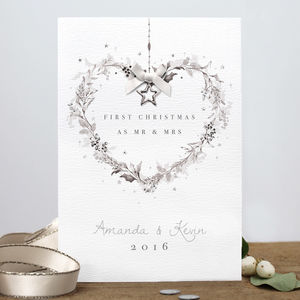 Personalised First Christmas As Mr. And Mrs Card