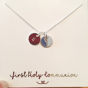 Personalised Baptism / Communion Necklace Gift For Her