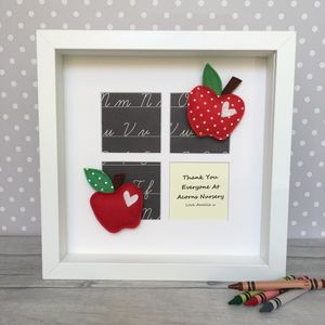 Personalised Thank You Teacher/Nursery Apple Frame