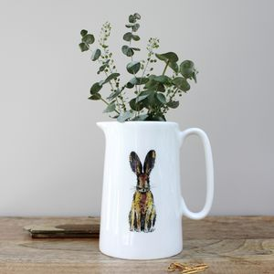 Hare One Pint Fine Bone China Jug - sugar bowls & cream jugs