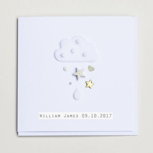 New Baby Cloud Greeting Card