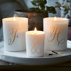 Personalised Couples Candle Set - gifts for her