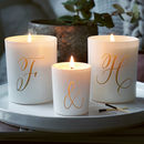 Personalised Couples Candle Set