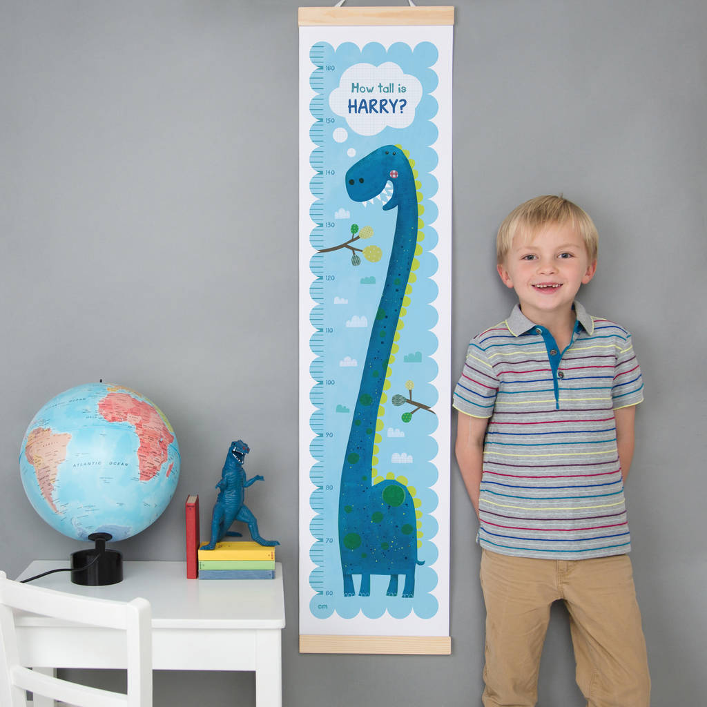 dinosaur bedroom. Personalised Dinosaur Height Chart  height charts Bedroom Decor and Accessories notonthehighstreet com