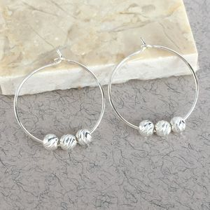 30th Birthday Sparkly Silver Bead Earrings - earrings