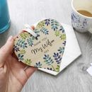 Teacher Thank You Wooden Heart Decoration Gift