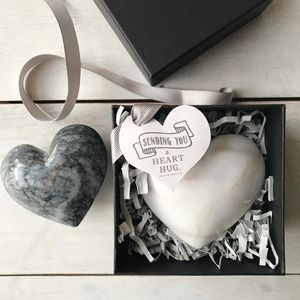 Marble Heart Hug - message tokens