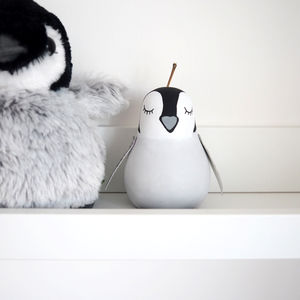 Penguin Wooden Pear - decorative accessories