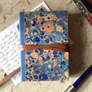 Monogrammed Marbled Wood Journal