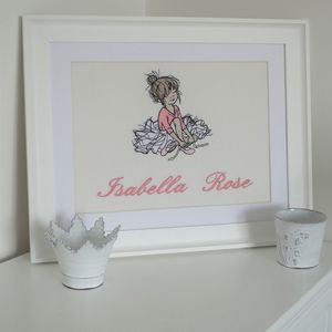 Personalised Embroidered Picture Of Dancer Tying Shoes