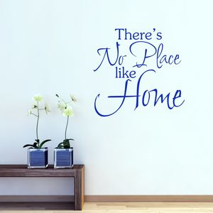 No Place Like Home Wall Sticker - office & study