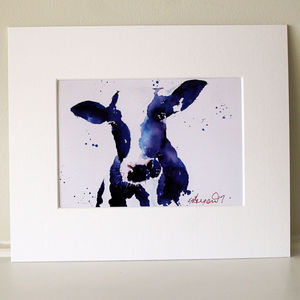Cow Print, Mrs Moo - canvas prints & art