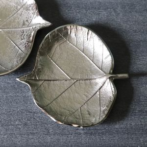 Silver Coloured Leaf Plate