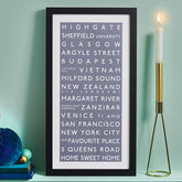 Personalised Destination Print - anniversary gifts