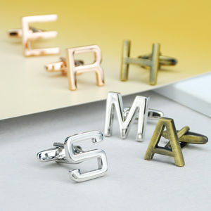 Personalised Initial Letter Cufflinks - women's jewellery sale