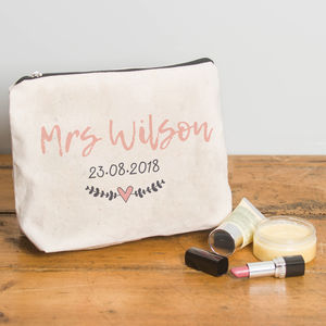 5f9c01ef4a5d Personalised Make Up Bag For Brides
