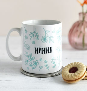 Grandmother Personalised Floral Mug - what's new