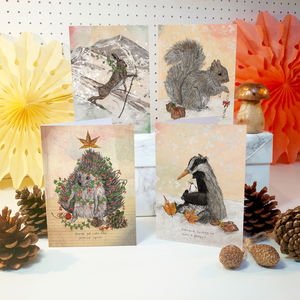 'Christmas Critters' Christmas Card Pack