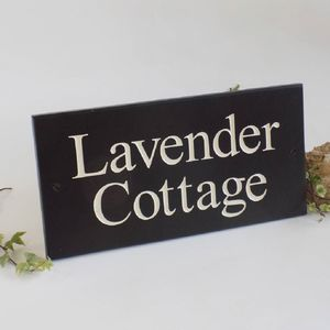 Personalised Slate House Sign - signs